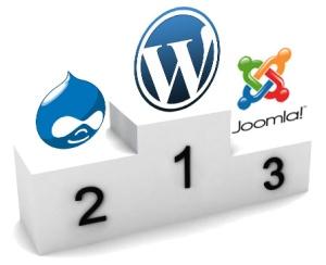 Classement des logociels cms Wordpress Joomla et Drupal