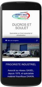 Site web Ducros et Soulet responsive design
