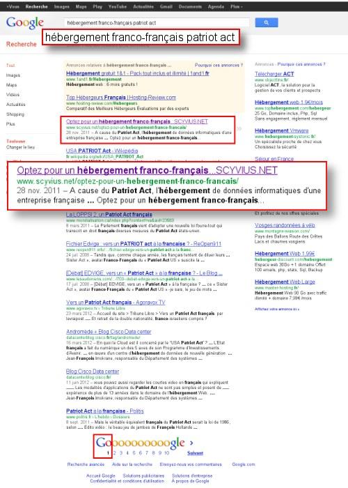 Référencement en premiere page et première position sur google