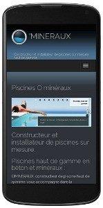 Version mobile du site web Ominéraux piscines et spas