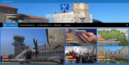 Nouveau site web de la mairie de Dourgne
